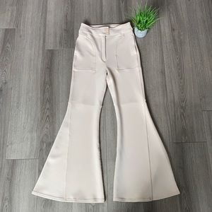 Free People Light Heart Flare Pant Sandshell Sz 10